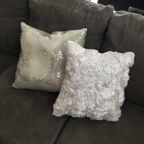 Pillows {Sequin or Floral} - Stacy's Pink Martini Boutique