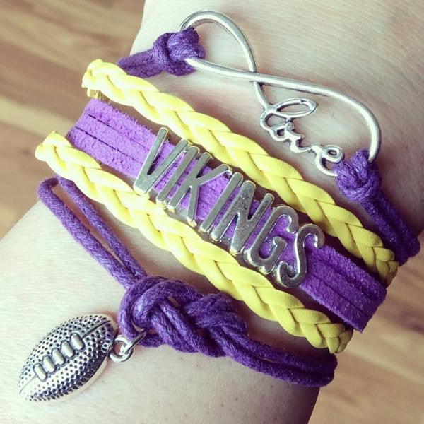 Bracelet {Minnesota Vikings} Football. Love. Infinity.