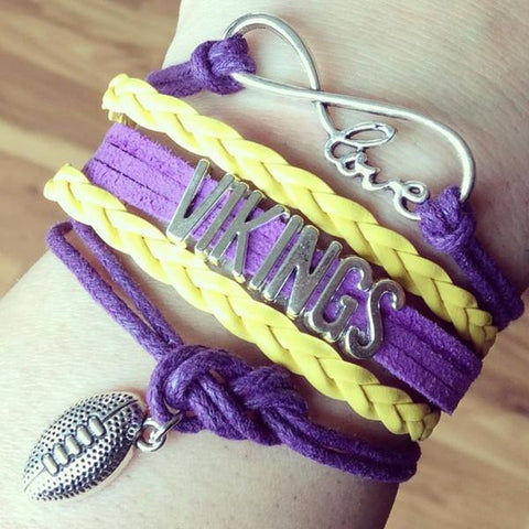 Bracelet { Minnesota Vikings } Football. Love. Infinity. $5 - Stacy's Pink Martini Boutique