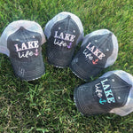 Hat { Lake life } Coral, teal, pink or purple with anchor! - Stacy's Pink Martini Boutique