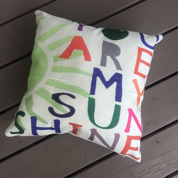 Pillow or pillowcase { You are my sunshine } - Stacy's Pink Martini Boutique