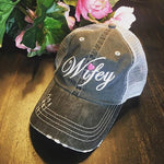 Hat { Wifey } Pink heart. - Stacy's Pink Martini Boutique