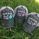 Hats and jewelry { Barn Hair don't care } { Rodeo hair don't care } Horseshoes. Horses. Clearance on some hats! See dropdowns. - Stacy's Pink Martini Boutique