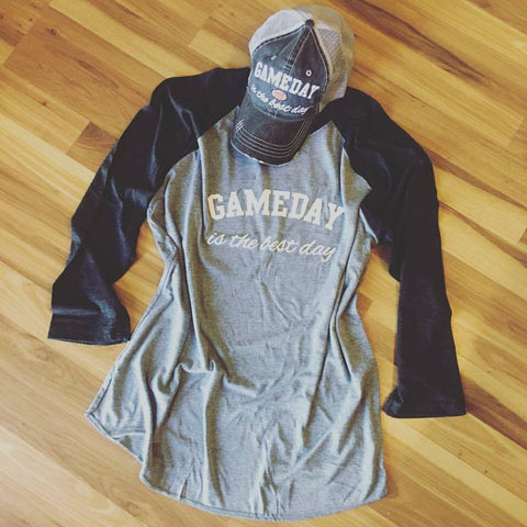 Shirt { Gameday is the best day }  Gray/Black I also have hats and tanks!