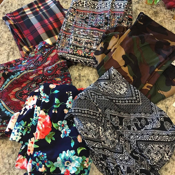 Leggings Assorted styles. { I HAVE EVERY PAIR!! } So soft and comfy!!! See dropdown for sizes and styles that are still available! - Stacy's Pink Martini Boutique