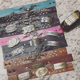 Inspiration bracelets She believed she could so she did Charm and leather wrap or chain - Stacy's Pink Martini Boutique