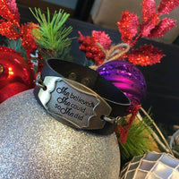 She believed she could so she did bracelet | Charm and leather band - Stacy's Pink Martini Boutique
