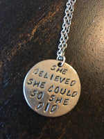 Jewelry  { She believe she could so she did } $5 Assorted necklaces/bracelets
