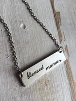 Necklace { Mama Bear } { Blessed mama } Assorted styles. - Stacy's Pink Martini Boutique