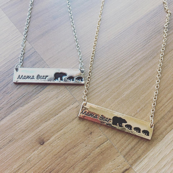 Necklace { Mama Bear } { Blessed mama } Assorted styles.