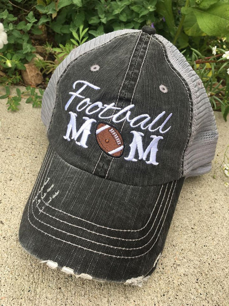 Hat { Football mom } Customize with name and numbers! Other football hats. - Stacy's Pink Martini Boutique