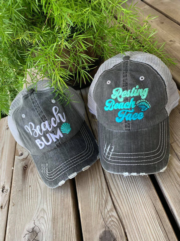 Hats { Resting Beach Face }