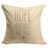 Pillow cases and pillows { Home is where the anchor drops. Sleeping with sirens. Hope anchors the soul } 17 x 17 burlap zipper closure. - Stacy's Pink Martini Boutique