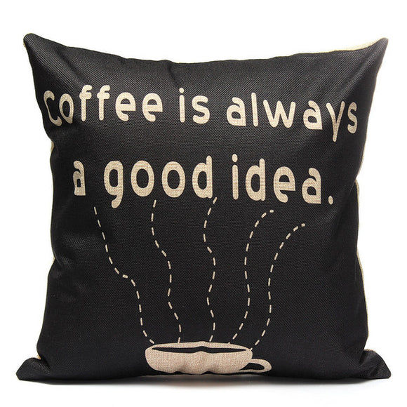 Pillow or pillow case {Coffee is always a good idea}