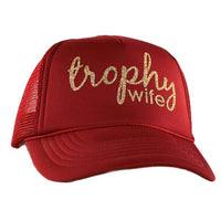 Hat {Happy wife happy life} {Trophy wife} Assorted colors and styles.
