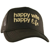 Wife, wifey & bride | Hats OR tanks { Happy wife happy life } Assorted colors/styles. - Stacy's Pink Martini Boutique