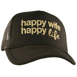 Hats Happy wife happy life Trophy wife  Ain't no wifey Womens trucker caps Snap backs - Stacy's Pink Martini Boutique