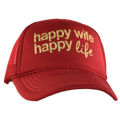 Hats OR tanks { Happy wife happy life } Assorted colors and styles. SHIRTS SOLD OUT UNTIL FALL.