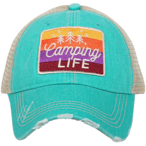 Hats { Camping life } 4 colors. - Stacy's Pink Martini Boutique