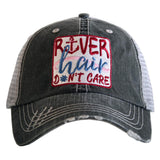 Hat { RIVER hair don't care } Pink, teal,~FLOATIE OR pink, blue~ANCHOR. - Stacy's Pink Martini Boutique