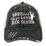 Shirts and hats { Love me like you love deer season } I also have Love me like you love duck season and love me like you love fishing - Stacy's Pink Martini Boutique