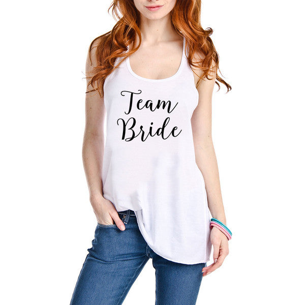 Tank {Team bride} White or black - Stacy's Pink Martini Boutique