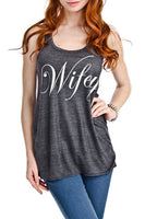 Tank { Wifey } Coral, white, black or gray!