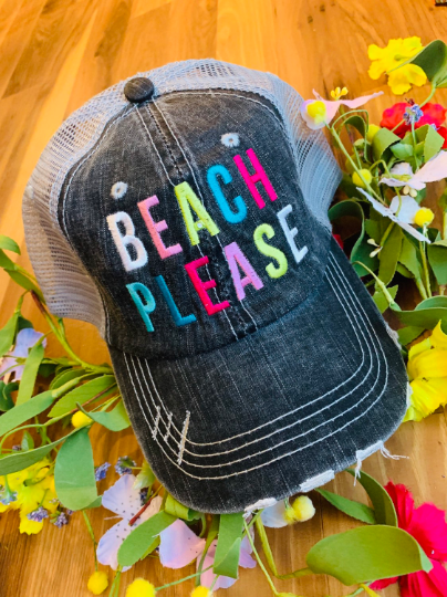 Hats and tanks { Beach please } { Beach hair don't care } { Beachaholic } { Beach bum } Resting beach face • Hola beaches • Feelin' beachy • Palm trees, sunshine, seashells, sand, waves, anchors, shells, starfish, sea turtles, flip flops. - Stacy's Pink Martini Boutique