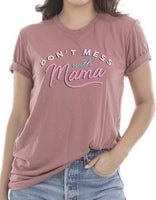 Dont mess with Mama hat! | Embroidered distressed womens trucker cap | Mom hats | Mama bear | - Stacy's Pink Martini Boutique