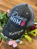 Dance hats and jewelry | Dance mom | Personalize | Embroidered distressed trucker caps - Stacy's Pink Martini Boutique