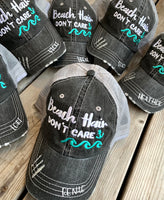 Soccer hats | Soccer mom | Womens embroidered distressed trucker caps | Personalize - Stacy's Pink Martini Boutique