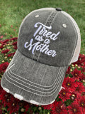 Mom! Hats, tanks, tshirts  • Tired as a mother • Womens trucker caps | Mom hats and clothing