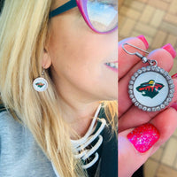 Earrings. Necklace Bracelet Keychain { Minnesota Wild } Hockey. Any team. - Stacy's Pink Martini Boutique