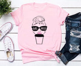 Girlboss | T-shirt | Coffee ~ Messy bun - Stacy's Pink Martini Boutique