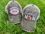 Football hats! | FOOTBALL Mom hats Embroidered trucker caps Personalize Assorted styles - Stacy's Pink Martini Boutique