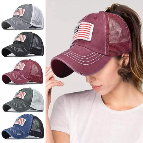 American flag hats • Trucker caps • USA • America • 5 colors • $10 hats - Stacy's Pink Martini Boutique