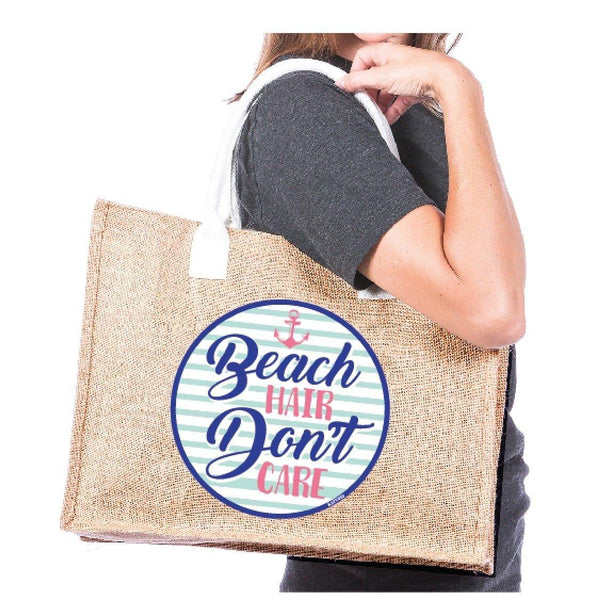 Beach tote • Beach hair don't care. - Stacy's Pink Martini Boutique