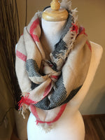 { Blanket scarf } Triangle shape. Not as large as the huge blanket scarves. - Stacy's Pink Martini Boutique
