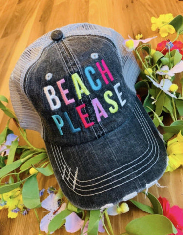 Hat { Beach please } Assorted styles. - Stacy's Pink Martini Boutique