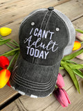 Basketball hats! Basketball mom | Customize | Embroidered distressed gray women's trucker caps • Add names, number, BLING!