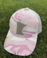 Hat. Minnesota. Pink and white camo. Adjustable snapback. Camoflauge. 4 left! $10 hat sale! - Stacy's Pink Martini Boutique