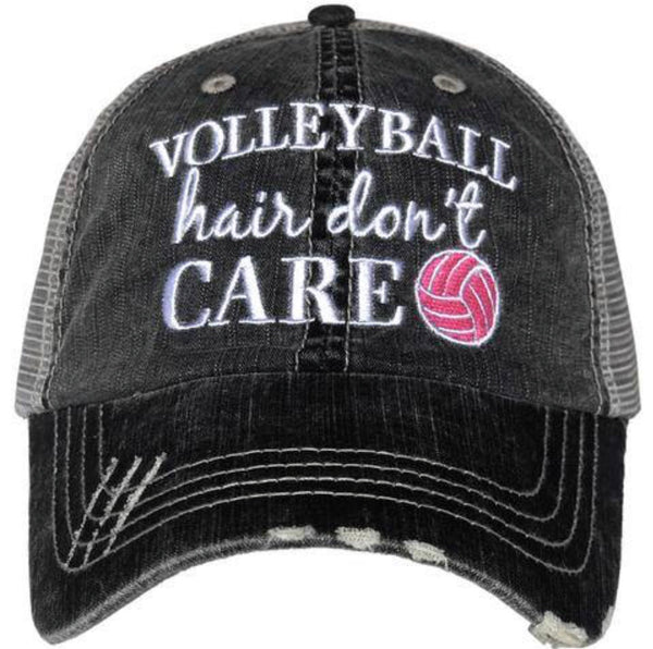 Hat { Volleyball hair don't care } - Stacy's Pink Martini Boutique