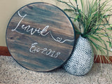 Wood signs or tray with handles { Round } Hand painted. 24 inches round. High quality pine. Custom colors. Great housewarming or wedding gift. - Stacy's Pink Martini Boutique