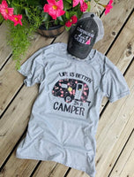 Shirts { Life is better in the camper } 1 left in XL $10 sale! All other sizes available for $15. - Stacy's Pink Martini Boutique