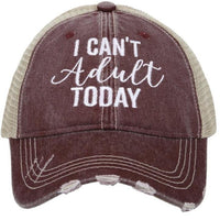 I can't adult today | Clothing & hats |