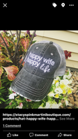 Hats, tanks and Shirts { Happy wife happy life }
