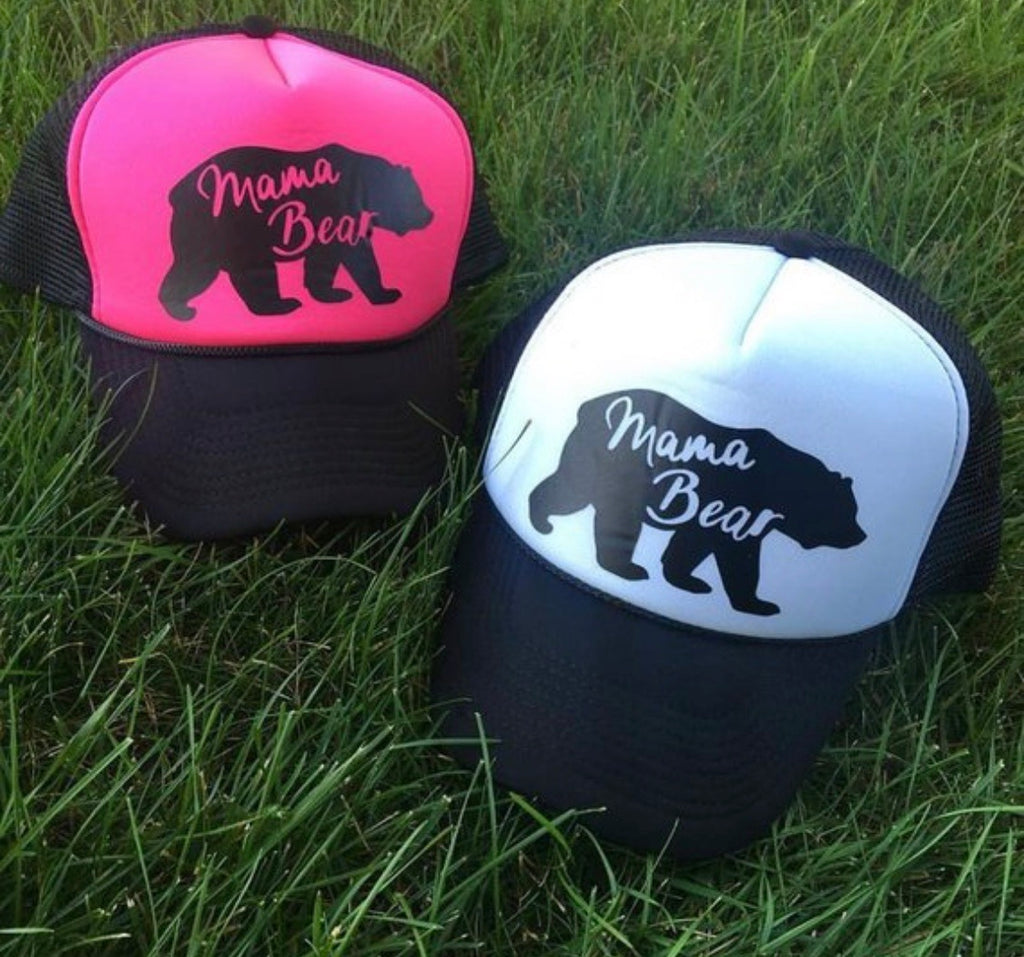 Hats { Mama bear hair don't care } 3 styles. - Stacy's Pink Martini Boutique