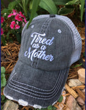 Hats, tanks, tshirts  • Tired as a mother • Womens trucker caps | Mom hats and clothing - Stacy's Pink Martini Boutique