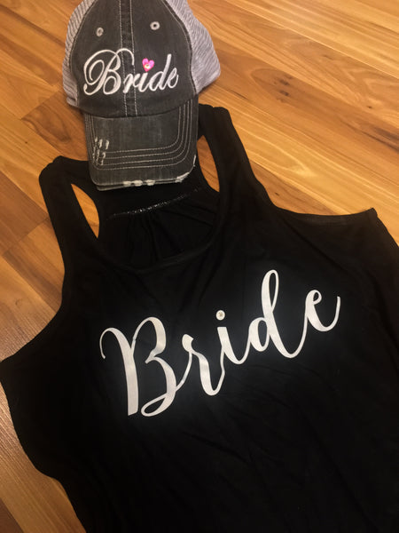 Hats and tanks { Bride }