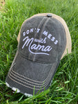 Hat { Don't mess with mama } Customize with last names, kids names, sports numbers! - Stacy's Pink Martini Boutique